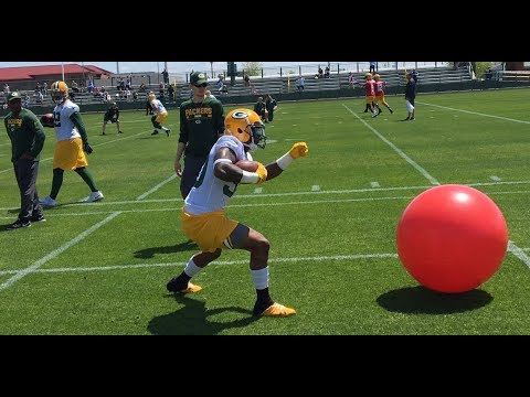 Green Bay Packers OTAs: RB Drills