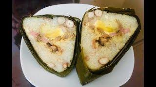 Gói bánh ú lá tre để ăn tết Đoan Ngọ (Bamboo leaf rice cake) - - Bếp Nhà Nội