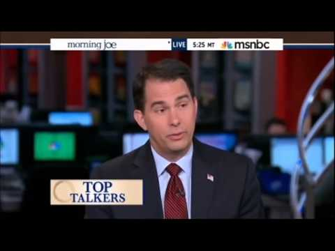 Wisconsin Gov. Scott Walker on MSNBC