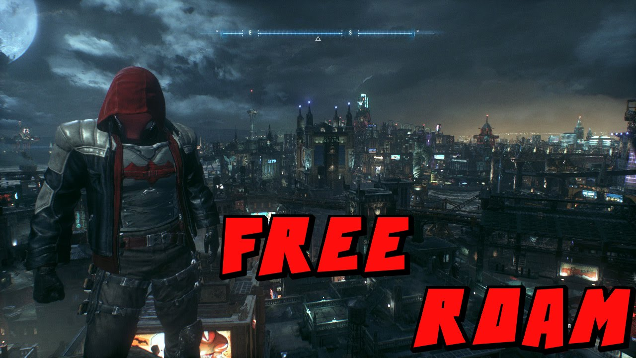 Batman: Arkham Knight - Robin Themed Batmobile Free Roam ...
