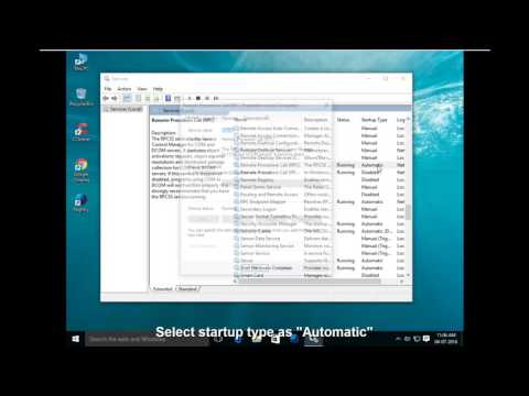 How to fix The remote procedure call failed in windows 10