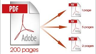009- Scinder un fichier PDF en plusieurs fichiers PDF