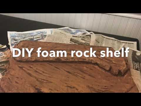 DIY foam rock shelf for reptiles