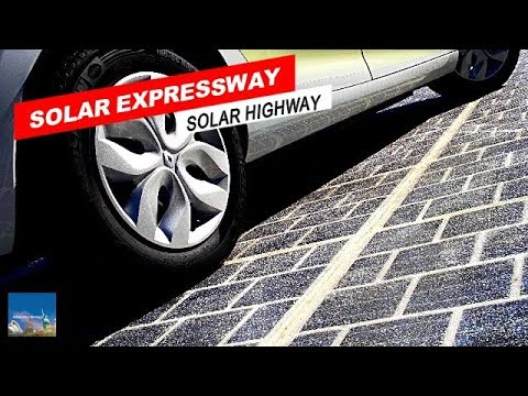 Solar Expressway : A new solar highway in China : Solar Road : Photovoltaic Highway