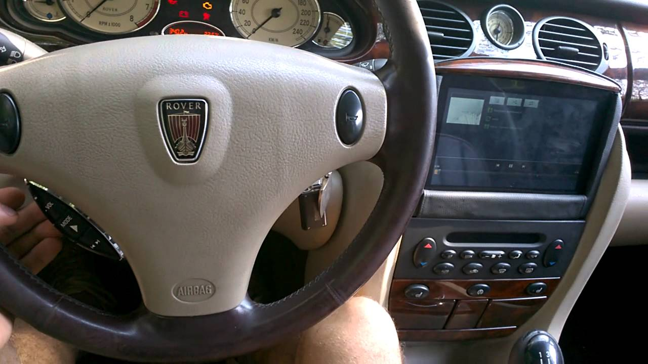 rover 75 + android - YouTube