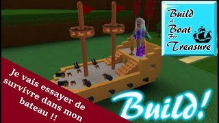 We create our boat in Build A Boat For Treasure ROBLOX