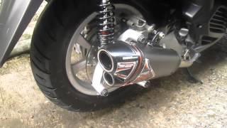 Nob1 Titan Series(Black) on Yamaha Tricity (all stock)Sound Test w/o DB Killer