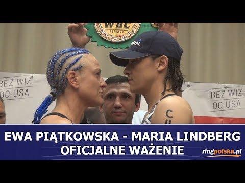 PIĄTKOWSKA - LINDBERG: OFICJALNE WAŻENIE PRZED WALKĄ O PAS WBC