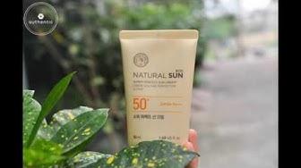 Kem chống nắng The Face Shop Natural sun super perfect sun cream SPF 50+