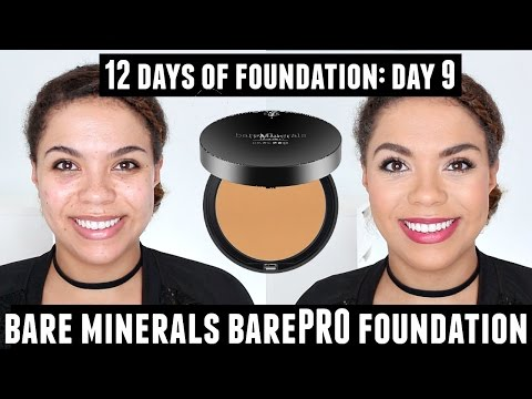 Bare Minerals BarePRO Powder Foundation Review (Oily Skin) 12 Days of Foundation Day 9