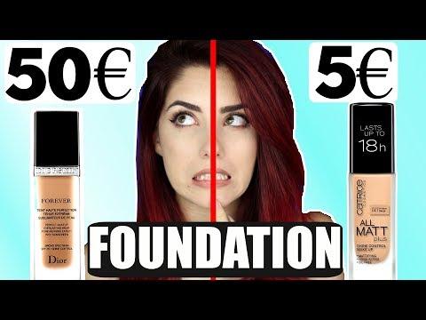 5€ FOUNDATION vs. 50€ FOUNDATION! Drogerie vs High End Dupes Vergleich I Luisacrashion