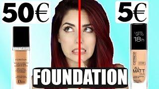 DROGERIE vs HIGH END I 5€ Foundation vs 50€ Foundation I Dupes Vergleich I Luisacrashion