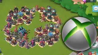 XBOX SYMBOL Base vs Hammerman Defense Event! Boom Beach Gameplay