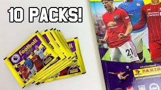 trying to *COMPLETE* my Panini FOOTBALL 2020 Sticker Album!! (10 packs!)