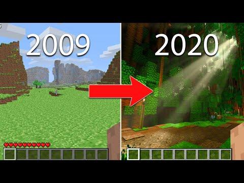 Evolution of Minecraft 2009-2020