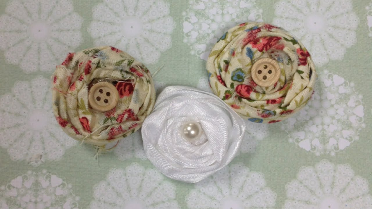 how to how to how to construct shabby chic fabric flowers diy rh youtube com
