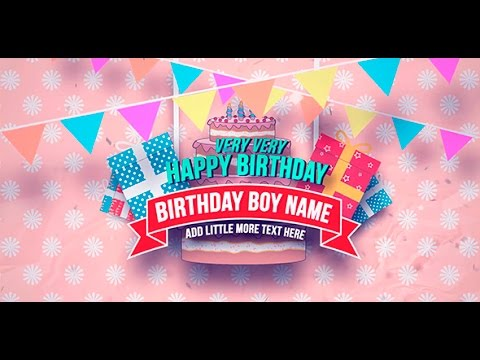 Happy Birthday Slideshow After Effects Template YouTube