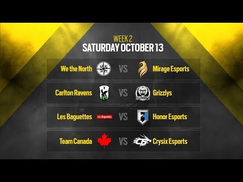 Rainbow Six Siege: LIVESTREAM Canadian Nationals Online Circuit 2 | Week 2 - Day 1 | Ubisoft [NA]