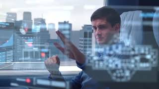 HD footage - Hi-Tech Futuristic Hologram scenes