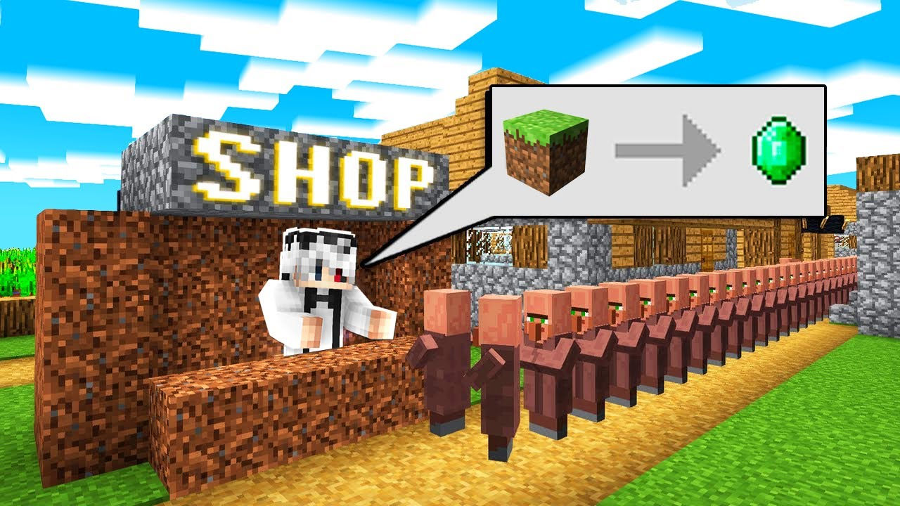 Minecraft - Angajat La Magazinul Satenilor!