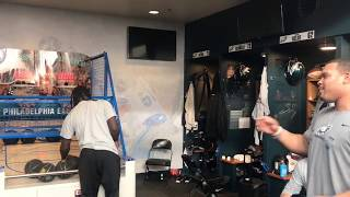 Eagles play Pop-A-Shot in locker room