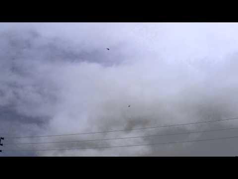 F22 Raptor Fighter Jets bank over my buddy
