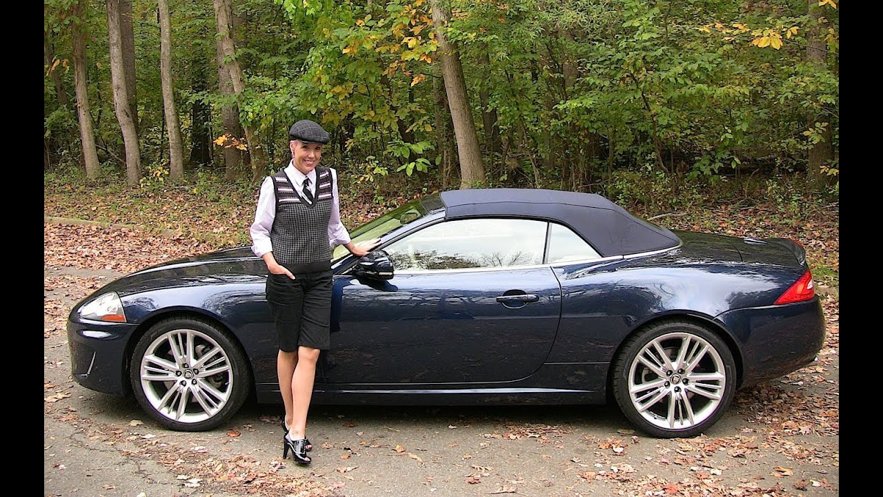 Lovely 2011 Jaguar XK Convertible Test Drive U0026 Car Review   RoadflyTV   YouTube