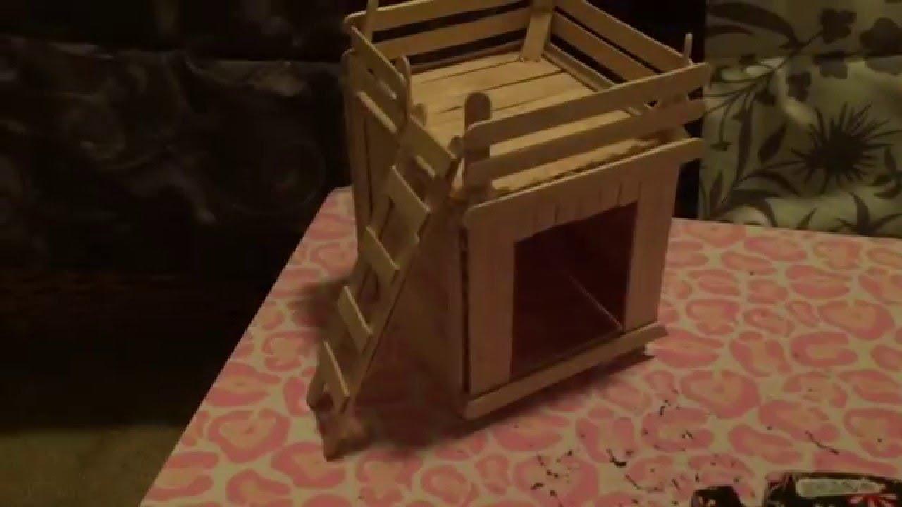 Diy Craft Stick Hamster Home Youtube