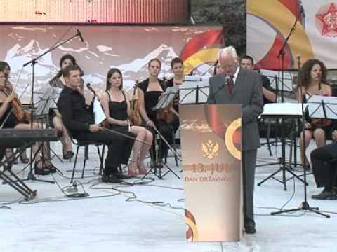 Predsjednik Vlade Crne Gore Igor Lukšić na Svečanoj Akademiji na Cetinju