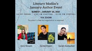 Literary Modiin January 2021 event
