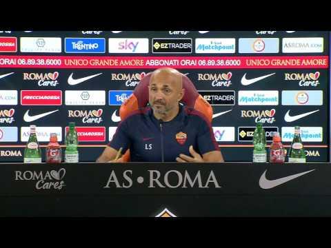 """Conferenza stampa Spalletti: """"Vermaelen ha la pubalgia. Totti è perfetto, andiamo avanti insieme"""""""