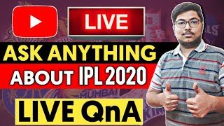Ask Anything About IPL 2020    Live QnA    ENG vs Wi Live Score