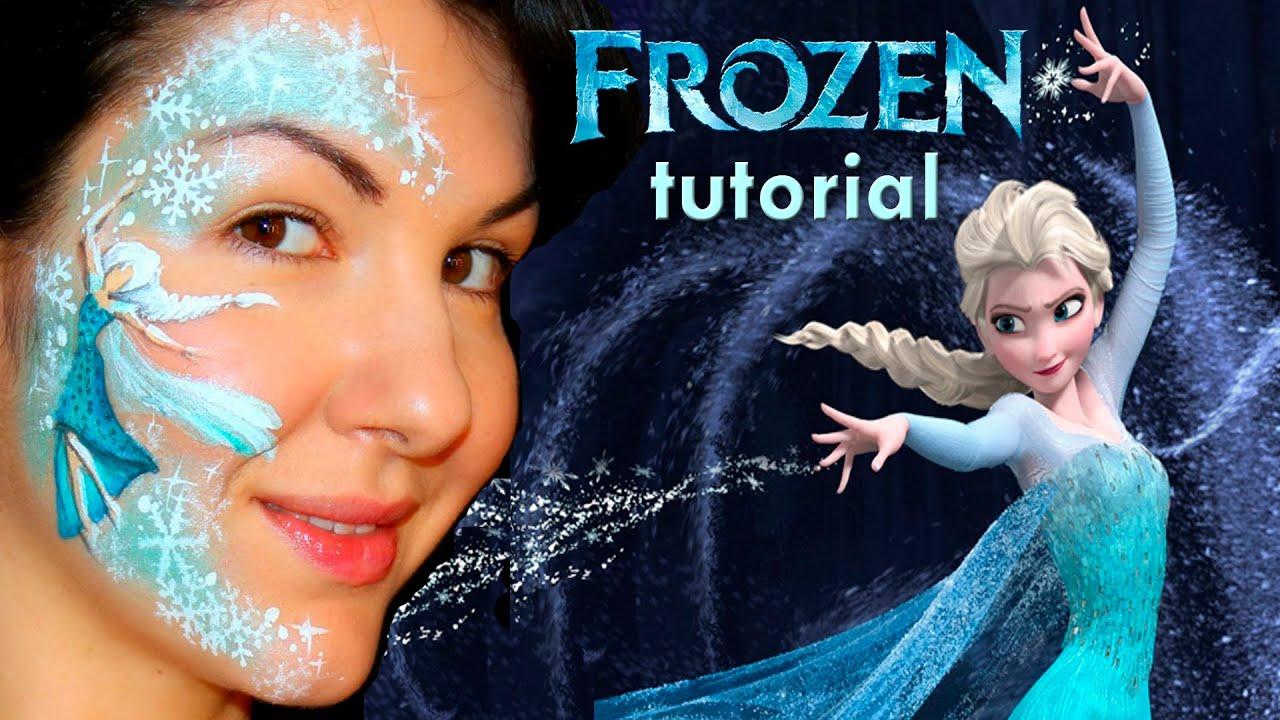 """""""Frozen"""" Elsa — Disney Princess Face Painting Tutorial ... Disney Princess Face Paint"""