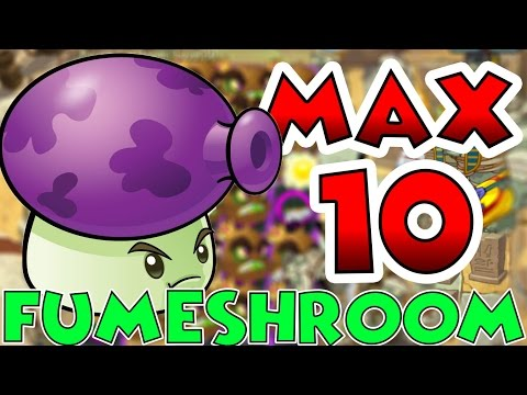Plants vs Zombies 2 Max Level UP - Fumeshroom Max Level 10 EPIC Power UP