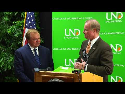 Harold Hamm gift to UND Engineering Program