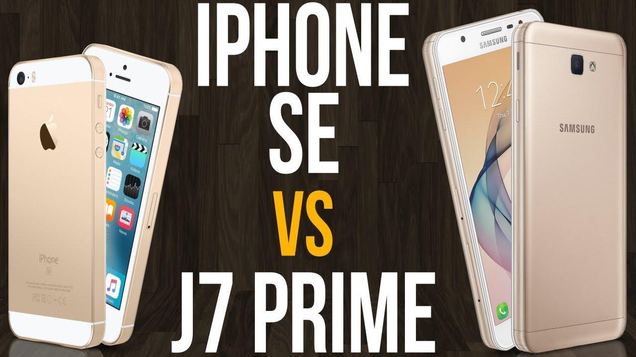 iPhone SE vs J7 Prime (Comparativo) - YouTube