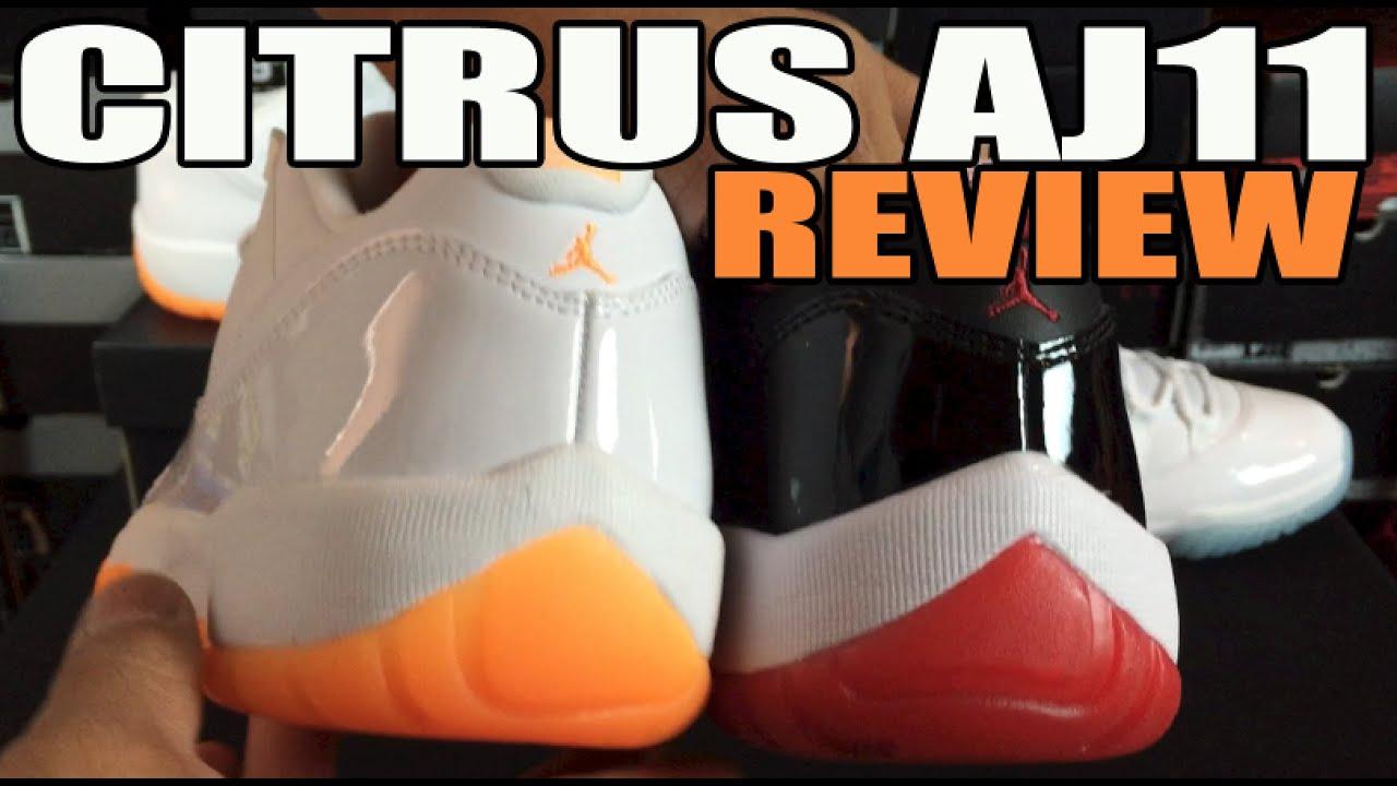 b5e68c481fbd60 Men s vs GS Air Jordan 11 Differences  AJ11 Citrus Review + On Feet ...