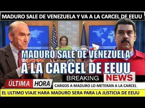 Maduro sale de Venezuela y va a la carcel de EEUU