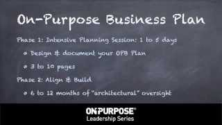 The On-Purpose Business Plan