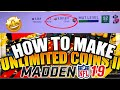 100% EASIEST WAY TO MAKE COINS IN MADDEN 19 ULTIMATE TEAM | HOW TO MAKE COINS |
