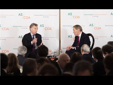 President Mauricio Macri Talks with Charlie Rose on What's Next for Argentina