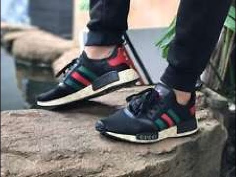 online retailer 803f5 d0483 Reviewing and on feet of Gucci x Adidas NMD r1 Runner Black