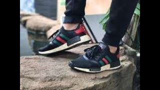 Reviewing and on feet of Gucci x Adidas NMD r1 Runner Black