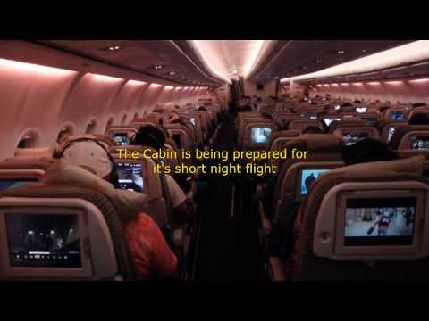 Etihad Airways / Frankfurt - Abu Dhabi / Coral Economy Class / Airbus A340-500 / NOV 2015