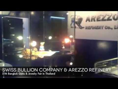 AREZZO REFINERY with SWISS BULLION COMPANY at Bangkok Gems and Jewelry Fair in Thailand