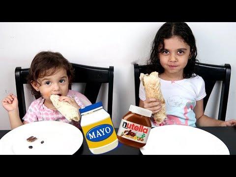 الساندويش الذي لا يؤكل! مايا و لانا - Sandwich Challenge thumbnail