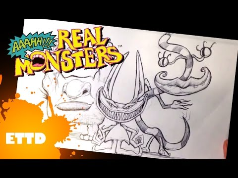 Drawing Aaahh Real Monsters Realistic Youtube