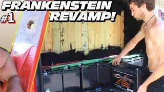 GUTTING FRANKENSTEIN!  Re-Installing EXO's Battery Bank w/ 30000 Watt Amp Rack & Custom Copper Bars