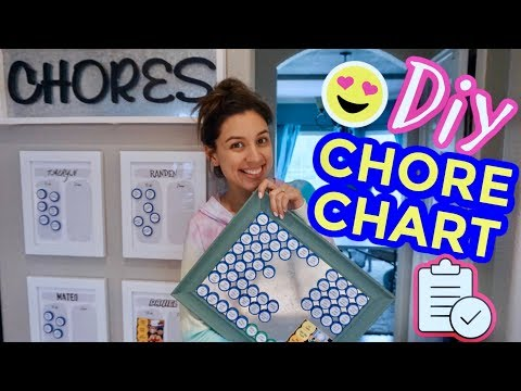 DIY CHORE CHART | How to easily track if your kids (or adults��) do their chores!