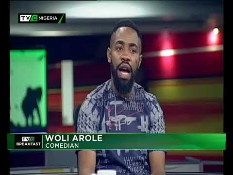 Woli Arole at TVC Breakfast show with the ever hilarious Frank Donga